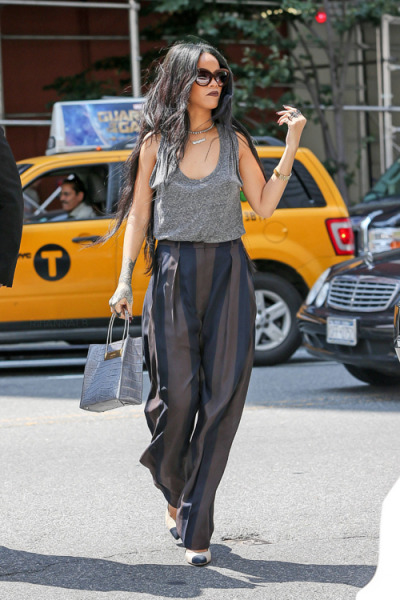 Rihanna out and about in New York.