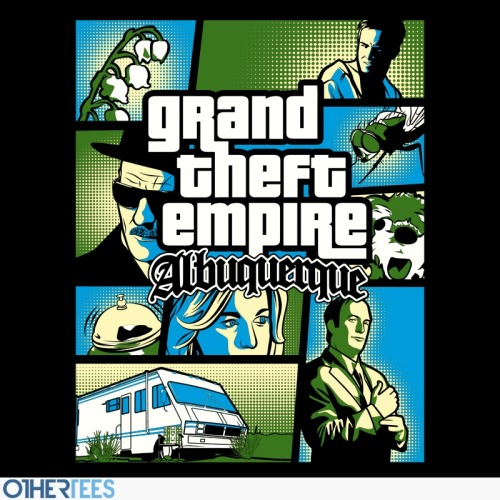 gamefreaksnz:  Grand Theft Albuquerque by Sam Humer 7£ / 8.5€ / 11$ Artist: Redbubble | Facebook