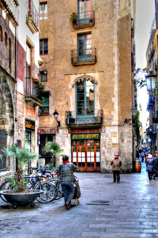 | ♕ |  Calle Assaonadors - old alley in Barcelona  | by © Poco a poco