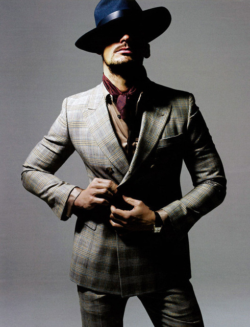 David Gandy for the premiere issue of ShortList Mode.