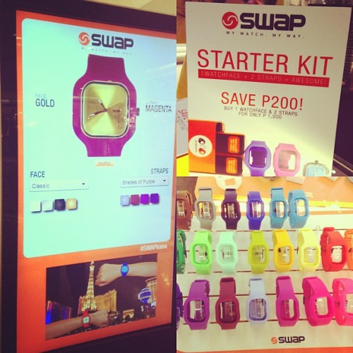 Drop by the @TomatoPH Swap Watch pop up store at Glorietta 4 and grab yourself a watch!! #SWAPKana
