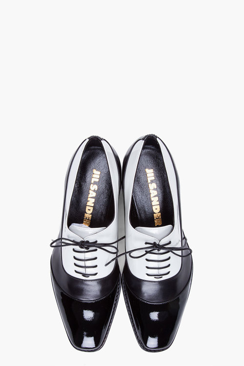 dapperdean:  JIL SANDER // TWO TONE OXFORD FLATS