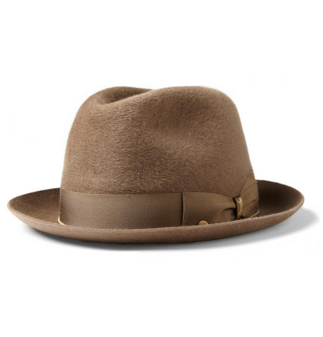 #5 - Borsalino Cervelt and Wool-Blend Felt Fedora