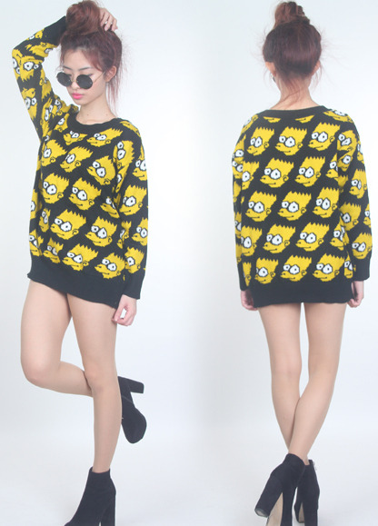 "fashionpassionates:  Get yours: BART SWEATER Shop FP | Fashion Passionates ""get your fashion fix with fashion passionates"