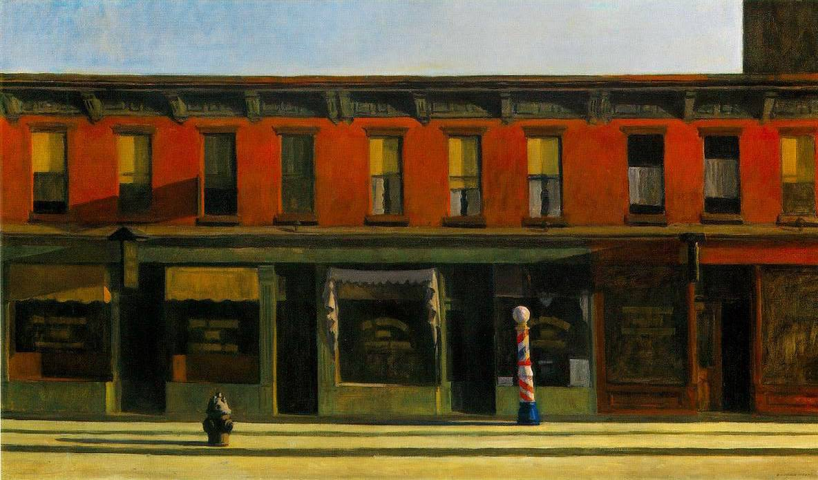 """Early Sunday Morning,"" 1930 by Edward Hopper"