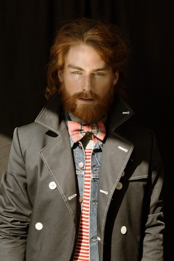 accidentalbear:  (via Striking Ginger Bearded Dandy Dominic Photographed by Julia Blank)