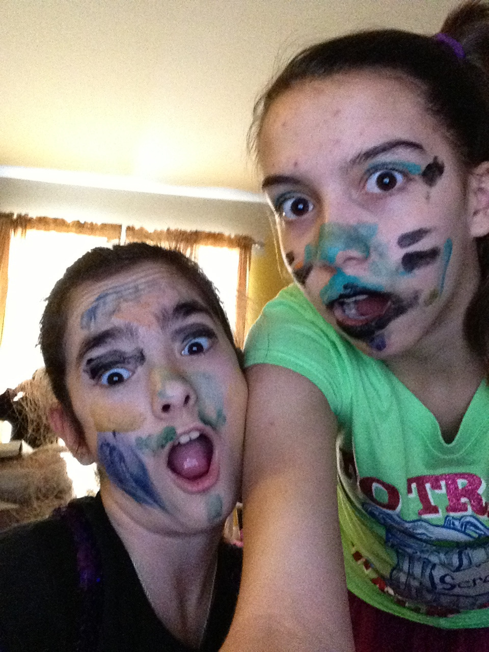 Me and my friend painted each others faces :P