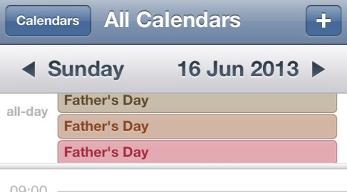 I think Calendar might be trying to tell me that 16 June is Father's Day.
