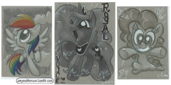 Random pony sketch cards - 2.5x3.5 and 3x4