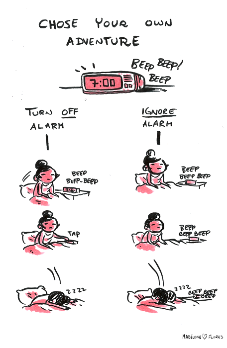 madeleineishere:  Doodle: never going to be a morning person…   Ditto