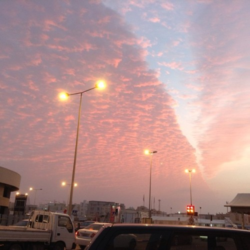 Someone erased the clouds today :> #nofilter #bahrain #clouds #sunset