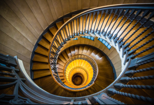 "The Big Eye by Vincent Bourrut ""This is the spiral staircase at Heal's department store in London. I knew the picture I wanted to take – my aim was to bring out the detail in the wood."" View more of Vincent's photography at his website. Image copyright Vincent Bourrut and used with permission. — See the world's most inspirational images every Thursday in Photography Week. Get five free issues today, risk-free, at http://bit.ly/RHzJmN"