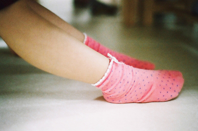 imperfectio:  pink polka dots by k // rara on Flickr.