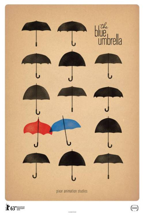 "Pixar's new short, ""The Blue Umbrella"". (via Vulture)"