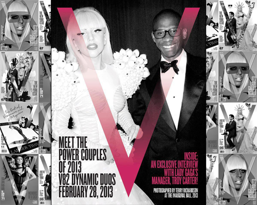 Lady Gaga's manager, Troy Carter, sat down with V Magazine to talk about his work with Gaga and their future plans. Preview the interview below and be sure to pick up the issue on newsstands on February 28th.  How did you originally meet and come to work with Lady Gaga? We were introduced by Vincent Herbert, who was her executive producer at her record label. You saw the energy when she walked in the room. She was very specific about her vision, all of the music was there, and all she needed was someone to help her translate it to the rest of the world, which is where I came in. When did you first realize the potential social media had to affect Gaga's career? I think it developed because we were forced into it. We couldn't get her record played on the radio and we couldn't get the video on TV. YouTube and blogs were our platforms in the very beginning because the Internet was the only platform! Is it true that Lady Gaga's next record, ArtPop, will be released as an app? The album is going to be an app. It will also exist in CD and digital form, but the primary experience will be as an application. It will be built around the tablet, but will have a mobile version as well. How do you think the business of pop music will evolve? This is the best time to be in the music industry. As sub-Saharan Africa and China go completely mobile, you have people who've never had access to the music we offer all of a sudden able to access it. I think we can reach a lot more people now. You're going to see a lot more friction points for independent artists disappear, but there will be more artists than ever. You'll have to look at making money through a different lens. Artists are going to be giving away music in exchange for different things, like data or purchasing a ticket or a piece of merchandise. There will be new ways to monetize music, but it may not be the music itself. What is your most memorable experience of working with Gaga? Does anything particularly surreal stand out? I think—and I can say this because it just happened recently—it was seeing her have a casual conversation with the President about gay rights issues. When you think back to six years ago, this girl from New York walking in with ripped-up stockings, and now she's having conversations with the President about serious issues-—it's a bit surreal. What is next for the Troy/Gaga think tank? I have no idea! We could have never predicted we'd be where we are right now, so I have no clue what the next five years are going to look like, but I hope it gets even better.