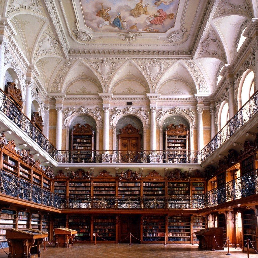 wanderthewood:  Abbey library, Czech Republic