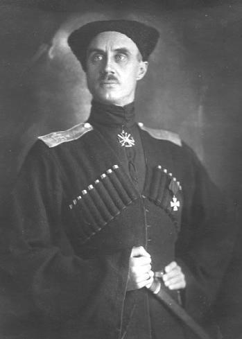deutschemark:  {Baron Peter von Wrangel (Russian: Pyotr Nikolayevich Vrangel), General of the Imperial Army, Commander-in-chief of the White Army in Crimea - c. 1920}  http://en.wikipedia.org/wiki/Pyotr_Nikolayevich_Wrangel