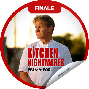 I just unlocked the Kitchen Nightmares: Amy's Baking Company sticker on GetGlue                      2099 others have also unlocked the Kitchen Nightmares: Amy's Baking Company sticker on GetGlue.com                  In the fifth-season finale, Chef Ramsay visits Amy's Baking Company in Scottsdale, Ariz., which is clean but has issues with food and service. Share this one proudly. It's from our friends at FOX.
