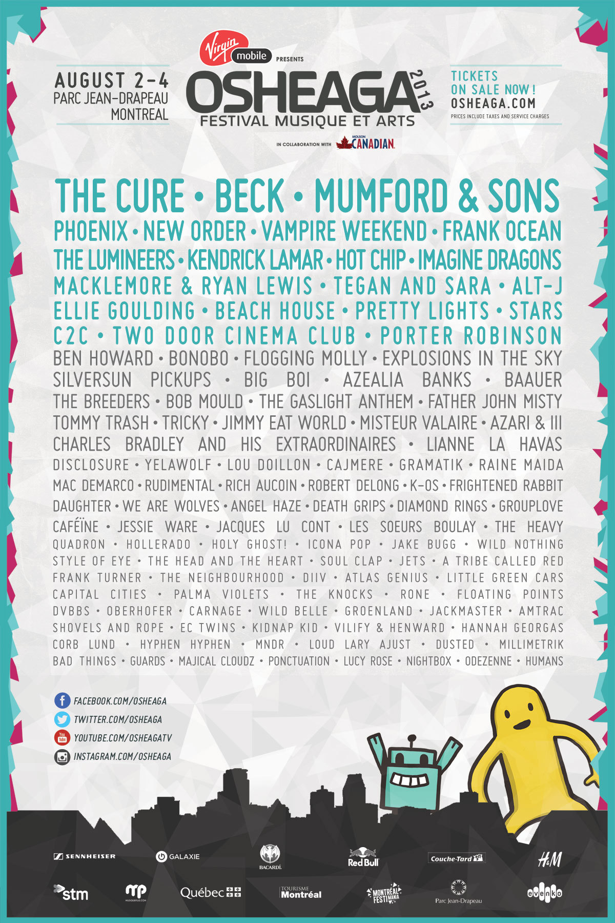 Osheaga is going to be aaaaahhhhmaaazzinnnnggg this year.