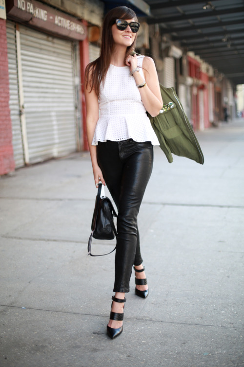 must-have-outfits:  great peplum top + leather pants & heels what-id-wear:  (original : Style Scrapbook )