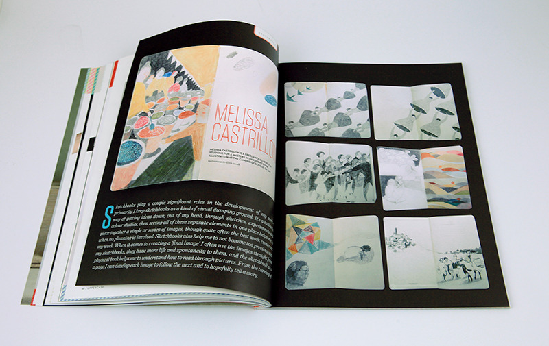Wooohooo! Canadian arts and design publication 'Uppercase magazine' have their 17th issue out now, and i've got a very generous double page feature on me and my sketchbooks :>) They are also a small press and publish some beautiful books, one in particular by my favourite swedish illustrator, Camilla Engman. check out their website and their shop for beautiful things!  http://uppercasemagazine.com/