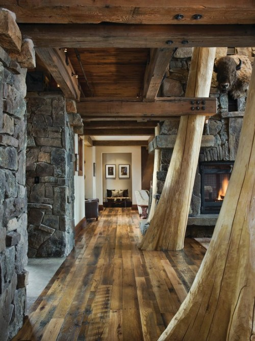 Hallway In The Log Cabin