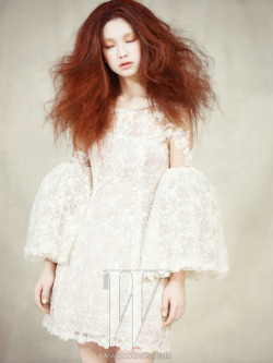 koreanmodel:   Kim Jin Kyung by Yoo Young Gyu for W Korea Feb 2013