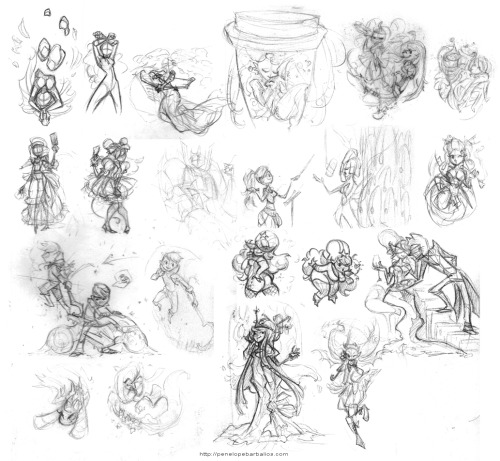 SketchDump Time! Collection of recent thumbnails. Some are recognizable, and some are of things I still have to do.