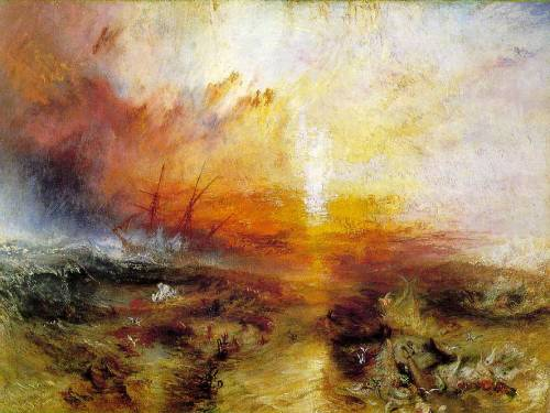 cavetocanvas:  J.M.W. Turner,Slavers throwing overboard the Dead and Dying - Typhon coming on (The Slave Ship), 1840