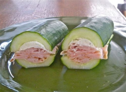 Things that just might change your life: Cucumber sandwiches Ditch the bread, this is how I'm making all my sub sandwiches from now on. Via