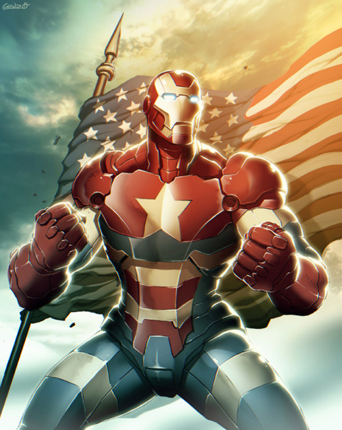patienceyoungpadawan:  Iron Patriot by Genzoman at deviantart