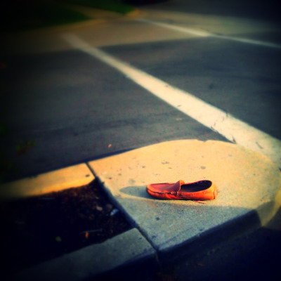 Anybody missing a moccasin? I found it. It's on the corner of PCH and Crenshaw.