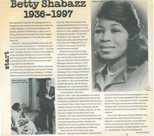 norulenorule:  Betty Shabazz obituary, 1997, VIBE Magazine