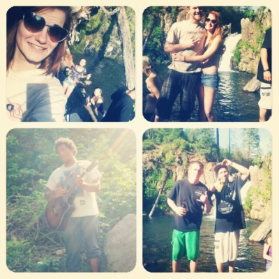Always have a good time with these people :)) #hatchetcreekfalls #saturday #sunday #crackfries #BestFriends #lovethem :)