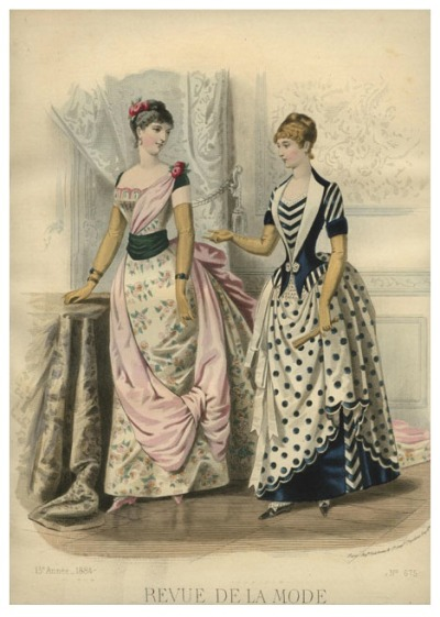 highvictoriana:  La Mode illustrée. Revue de la Mode. Dec 7, 1884.