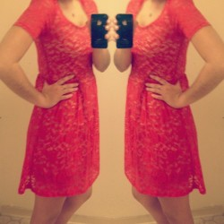 So I decided to be semi fancy today… #littlereddress #paintthetownred #lacedress #redredred #ootd #fashiondiaries #happymonday