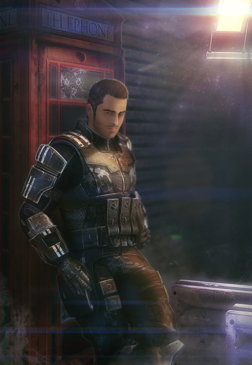 emmegray:  Kaidan Alenko by ~brinx2 This just perfect… You make my day, thanks ♥  Great! Love the lighting & such a good job with the armor :)