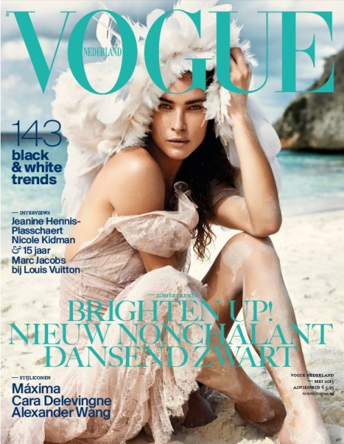 The cover of Vogue Netherlands May 2013 was photographed in Curacao. Impressive!