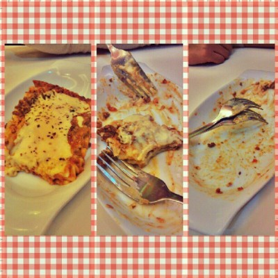 February ONE. :) At Ice Giants ^^ BEFORE-DURING-AFTER LASAGNA :))))) #foods #LOVE #baboy