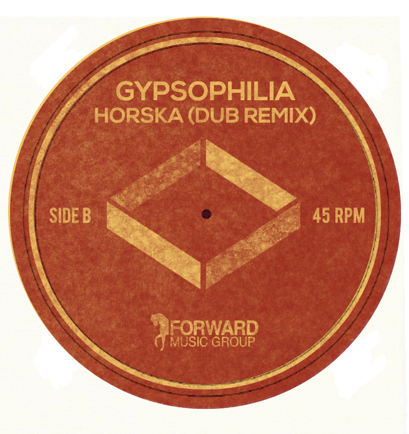 "gypsophilia:  Label for our upcoming 7"" single (courtesy of Sydney Smith, naturally)"