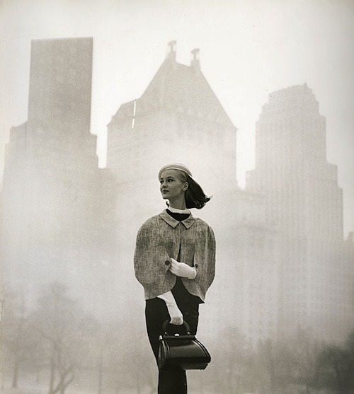 lauramcphee:  Fashion for the New York Times (Backdrop on a foggy day) 1956 (Tom Palumbo)