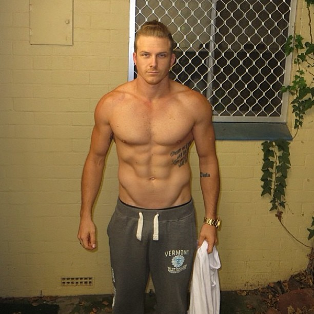 For #fitness #inspiration follow @youknow_whatitis #hunk #muscle #pecs #abs #gym #workout #fitbufflads