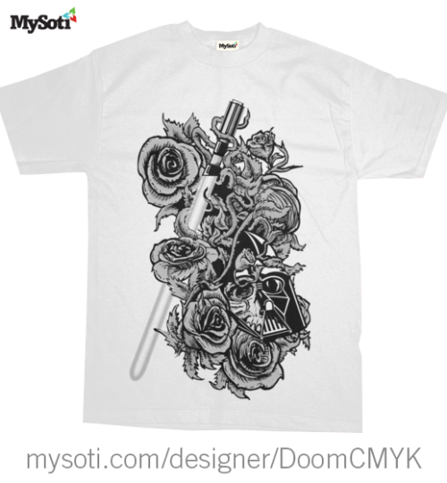 Black & White Dark Side Skull and Roses Tee Available in Men's, Women's, Sweatshirts and Onesies! Choose from many colors and sizes.