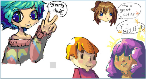 Doodle party 1 All colors done by me, all lines done by internet randoms <3