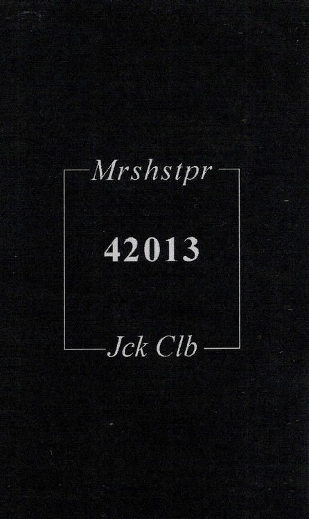 aureliusj:  Marshstepper / Jock Club  31:21  59.43 MB  1. Marshstepper - In Pure Linen And Placed In A New Tomb 2. Jock Club - Ex-Fantasy 3. Jock Club - Unwilling Desire 4. Jock Club - Sector 5. Jock Club - Obsidian    (for preview purposes only.)