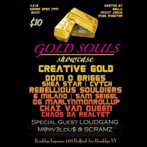 Tonight #NYC ! @Creative_gold will be headlining @ The Brooklyn Exposure! Make sure you wear them #DirtyJordans to win FREE @10deep gear!
