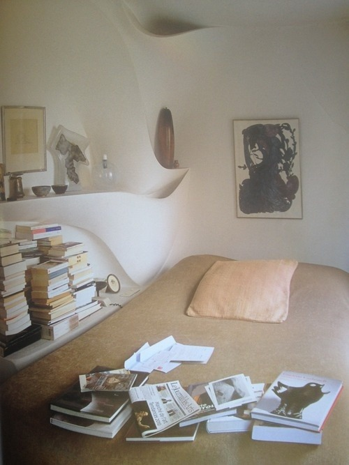 billowy:  ceramicist valentine schlegel's bedroom