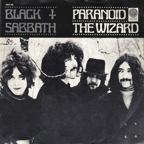 superseventies:  Black Sabbath, 'Paranoid b/w The Wizard' - single cover art