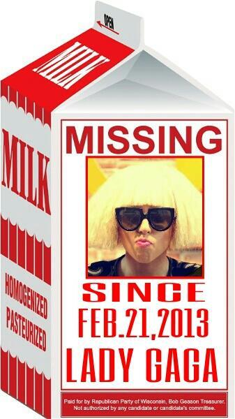 Lady Gaga - Help find @ladygaga, we lost her again.