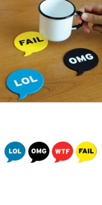 iwantnotneed:  Chat Lingo Coasters